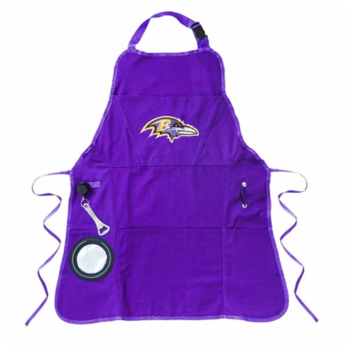 Baltimore Ravens Grilling Apron Perspective: front