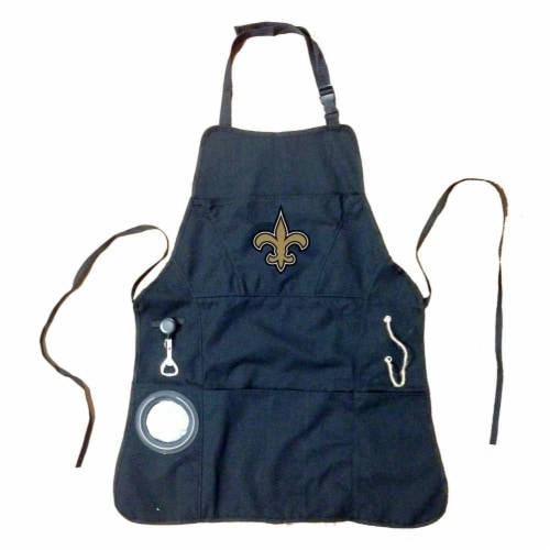 New Orlens Saints Grilling Apron Perspective: front