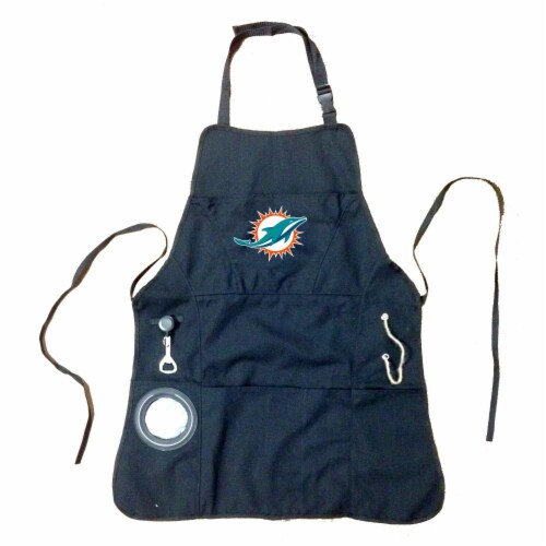 Miami Dolphins Grilling Apron Perspective: front