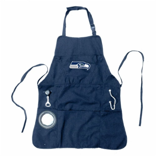 Seattle Seahawks Grilling Apron Perspective: front