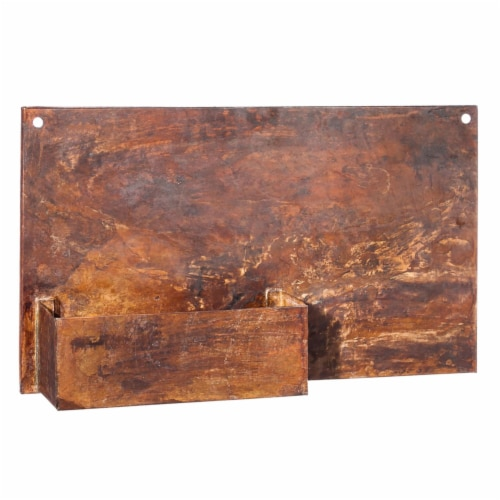 Evergreen Garden Rust Finish Wall Planter Perspective: front