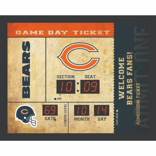 Chicago Bears Bluetooth Scoreboard Wall Clock Perspective: front