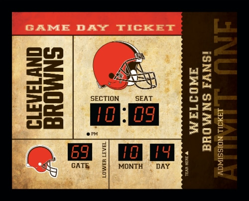 Cleveland Browns Bluetooth Scoreboard Wall Clock Perspective: front