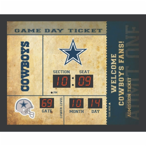 Dallas Cowboys Bluetooth Scoreboard Wall Clock Perspective: front