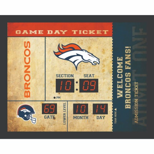 Denver Broncos Bluetooth Scoreboard Wall Clock Perspective: front