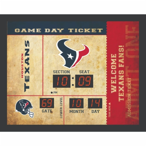 Houston Texans Bluetooth Scoreboard Wall Clock Perspective: front