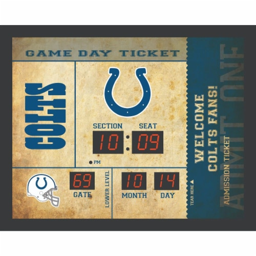 Indianapolis Colts  Bluetooth Scoreboard Wall Clock Perspective: front