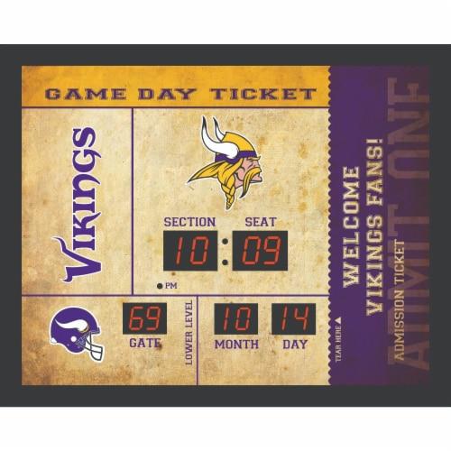 Minnesota Vikings Bluetooth Scoreboard Wall Clock Perspective: front