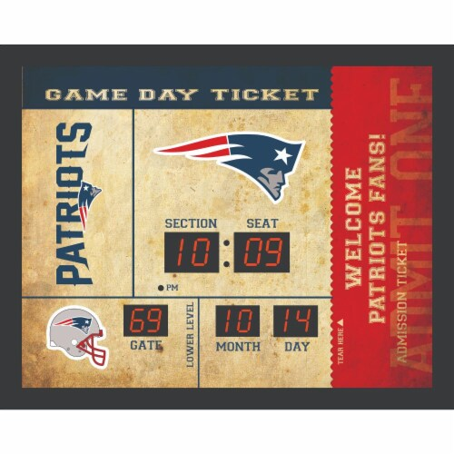 New England Patriots Bluetooth Scoreboard Wall Clock Perspective: front