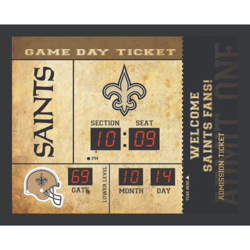New Orleans Saints Bluetooth Scoreboard Wall Clock Perspective: front