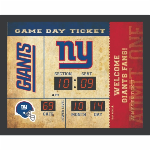 New York Giants Bluetooth Scoreboard Wall Clock Perspective: front