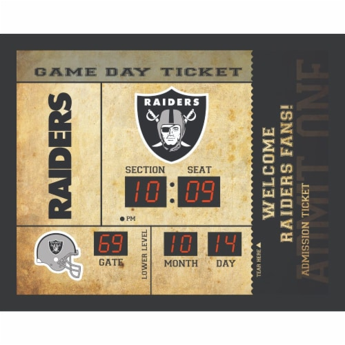 Las Vegas Raiders Bluetooth Scoreboard Wall Clock Perspective: front