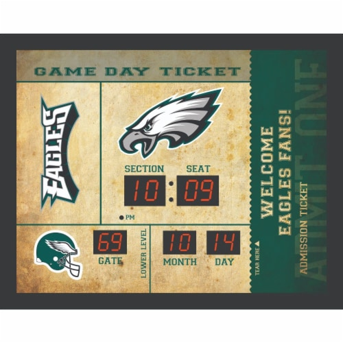 Philadelphia Eagles Bluetooth Scoreboard Wall Clock Perspective: front