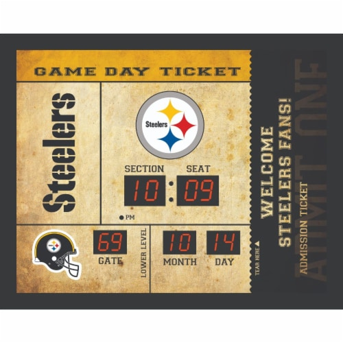 Pittsburgh Steelers Bluetooth Scoreboard Wall Clock Perspective: front