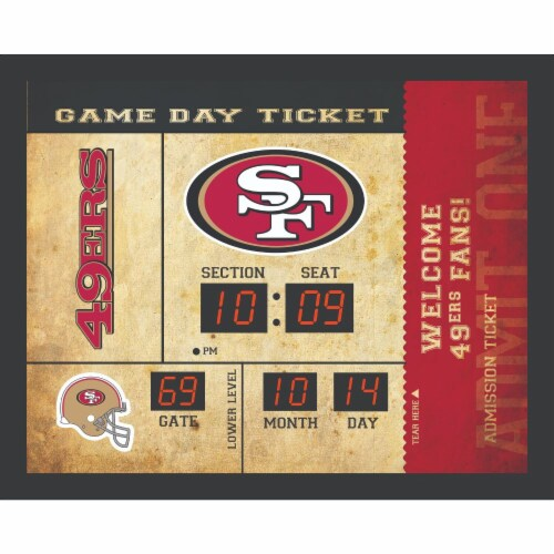 San Francisco 49ers Bluetooth Scoreboard Wall Clock Perspective: front