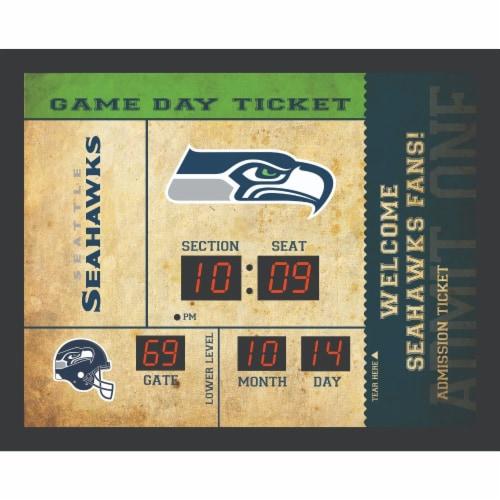 Seattle Seahawks Bluetooth Scoreboard Wall Clock Perspective: front