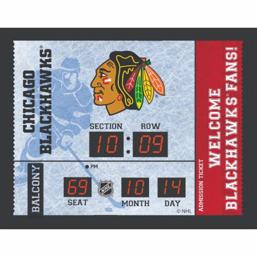 Chicago Blackhawks Bluetooth Scoreboard Wall Clock Perspective: front