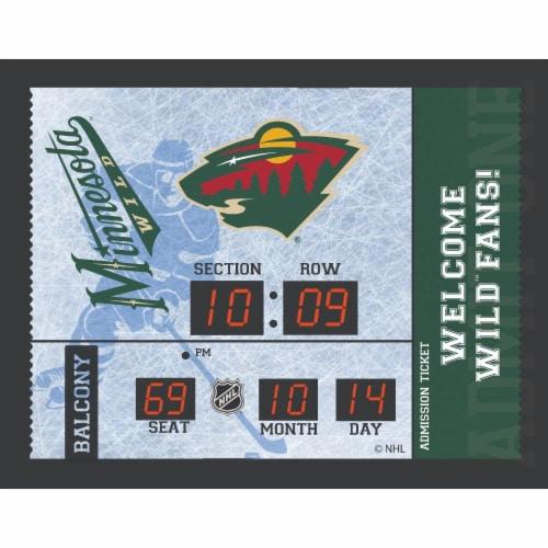 Minnesota Wild Bluetooth Scoreboard Wall Clock Perspective: front