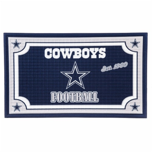 Dallas Cowboys Embossed Door Mat Perspective: front