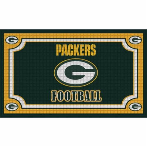 Green Bay Packers Embossed Door Mat Perspective: front