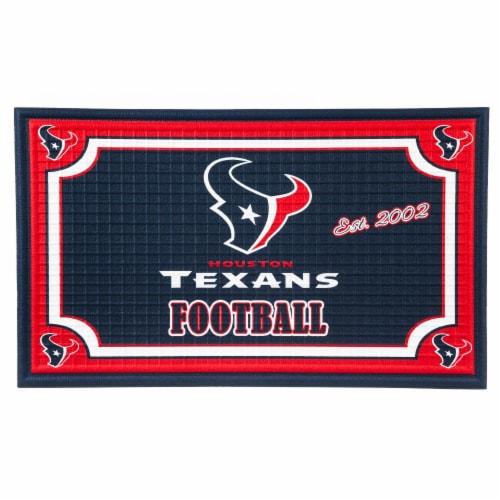 Houston Texans Embossed Door Mat Perspective: front