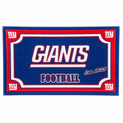 New York Giants Embossed Door Mat Perspective: front