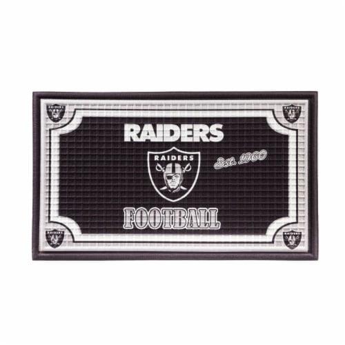 Las Vegas Raiders Embossed Door Mat Perspective: front