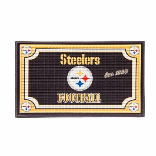 Pittsburgh Steelers Embossed Door Mat Perspective: front
