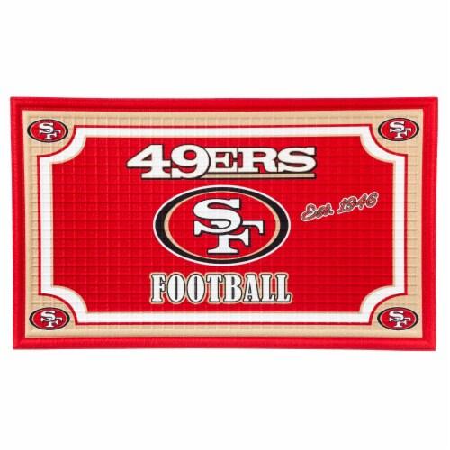 San Francisco 49ers Embossed Door Mat Perspective: front