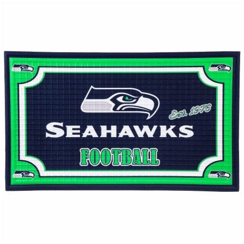 Seattle Seahawks Embossed Door Mat Perspective: front