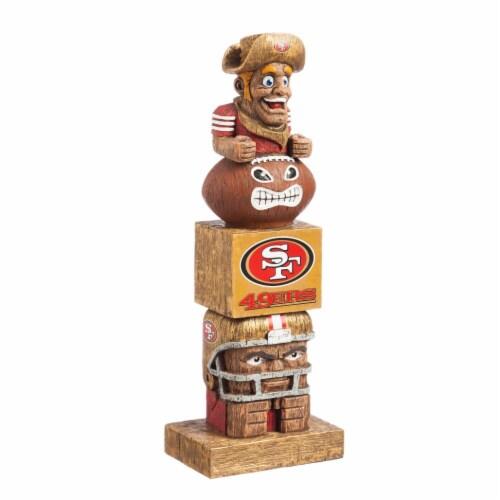 San Francisco 49ers Tiki Totem Perspective: front