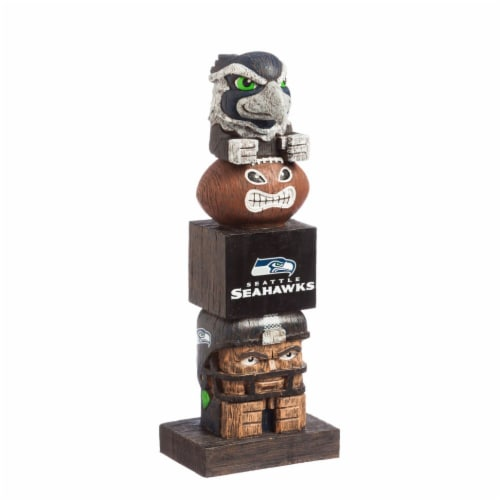 Seattle Seahawks Tiki Totem Perspective: front