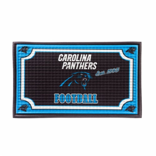 Carolina Panthers Embossed Door Mat Perspective: front