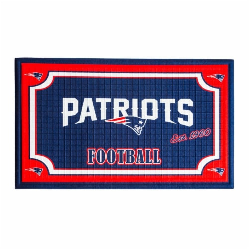 New England Patriots Embossed Door Mat Perspective: front