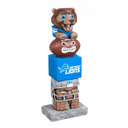 Detroit Lions Team Garden Statue Perspective: front