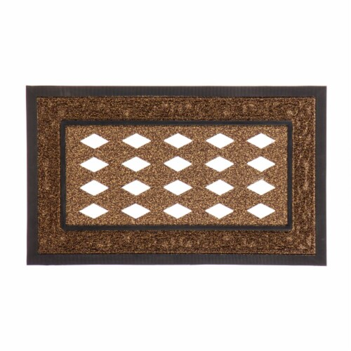 Evergreen Garden Sassafras Collection Scroll Mat Tray - Brown Perspective: front