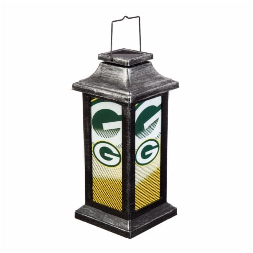 Green Bay Packers Solar Garden Lantern Perspective: front