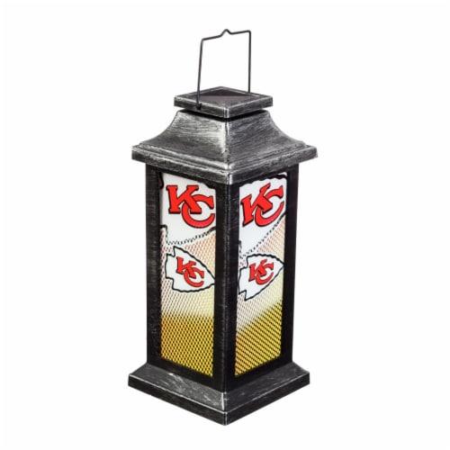 Kansas City Chiefs Solar Garden Lantern Perspective: front