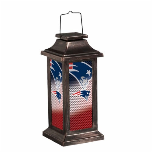 New England Patriots Solar Garden Lantern Perspective: front