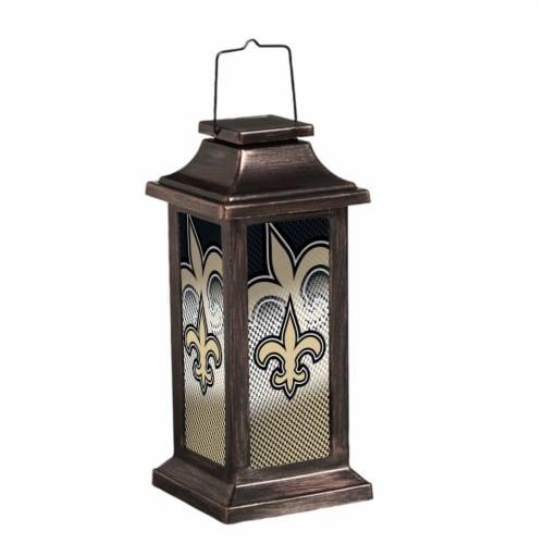 New Orleans Saints Solar Garden Lantern Perspective: front