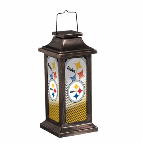 Pittsburgh Steelers Solar Garden Lantern Perspective: front