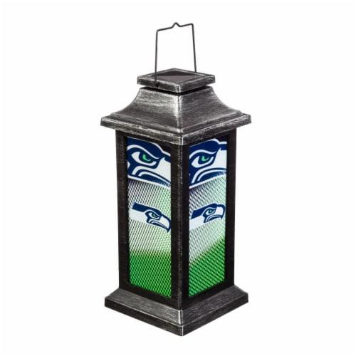 Seattle Seahawks Solar Garden Lantern Perspective: front