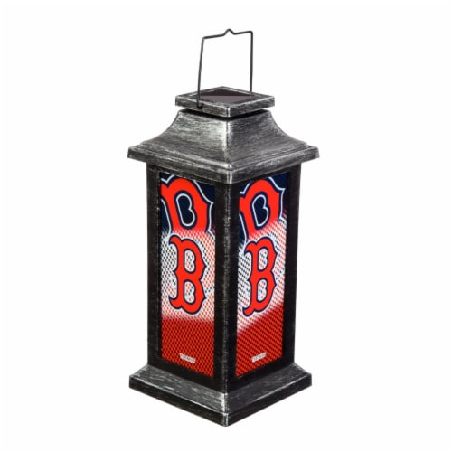 Boston Red Sox Solar Garden Lantern Perspective: front
