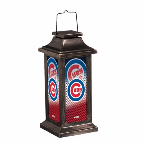 Chicago Cubs Solar Garden Lantern Perspective: front