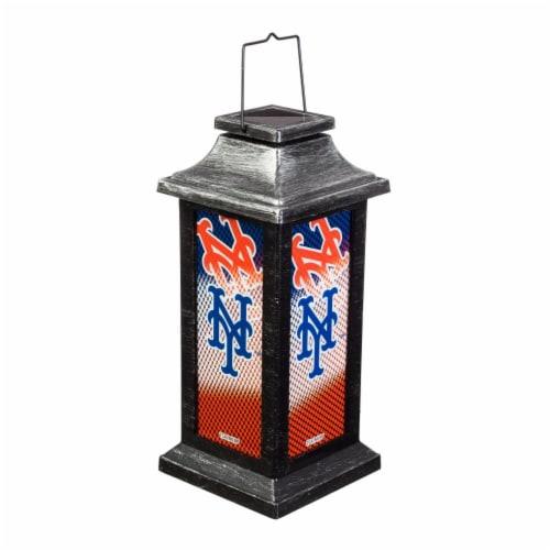New York Mets Solar Garden Lantern Perspective: front