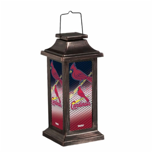 St. Louis Cardinals Solar Garden Lantern Perspective: front