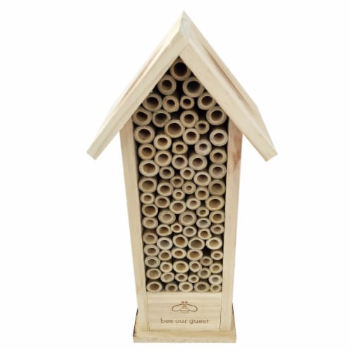 Bambeco Mason Bee Hotel Bird House - Natural Perspective: front