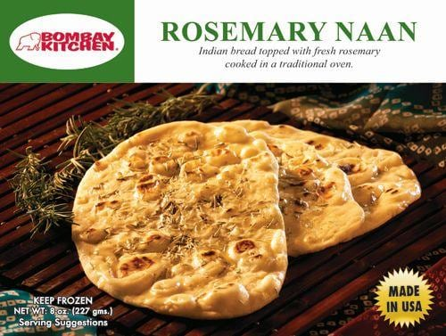 Bombay Kitchen Rosemary Naan Perspective: front