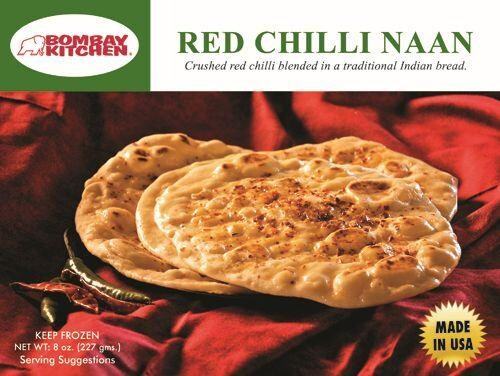 Bombay Kitchen Red Chili Naan Perspective: front