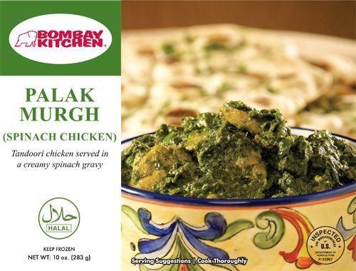 Bombay Kitchen Palak Murgh Spanish Chicken Perspective: front